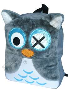 Grey, Owl Mini Backpack