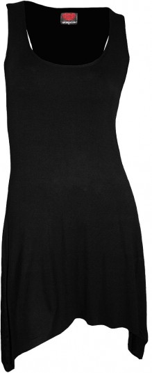 Damen Kleid - Goth Bottom Camisole Dress Black