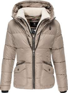 Damen Winter Jacke Navahoo Megan - Taupe