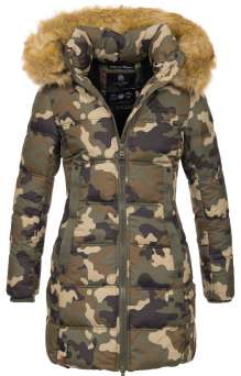 Damen Winter Jacke Navahoo Quitscheente - Woodland