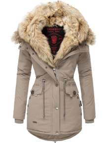 Navahoo Damen Wintermantel SWEETY - Taupe
