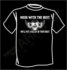 T-shirt Bullet in chest