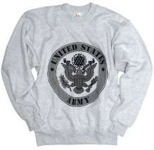 Herren Sweat-Shirt Pullover US ARMY