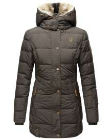 Marikoo Damen Winter Parka Lieblings - Antrazit