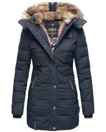 Marikoo Damen Winter Parka Lieblings - Navy