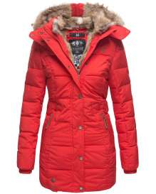 Marikoo Damen Winter Parka Lieblings - Rot