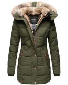 Marikoo Damen Winter Parka Lieblings - Olive